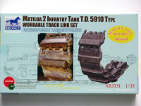 Bronco AB3531 MATILDA 2 infantry tank t.d 5910 type workable track link set 1:35