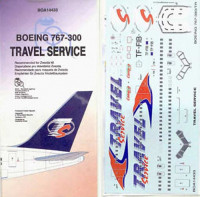BOA Decals 14433 1/144 Decals Boeing 767-300 Travel Service