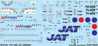 BOA Decals 14434 1/144 Decals Boeing 737-400 JAT Airways