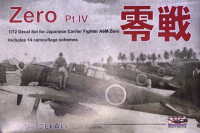 Rising Decals RIDE72074 1/72 Japanese Fighter A6M Zero Part IV (14x camo)