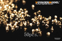 Voyager Model TE037 Turned Metal Bolts Pattern 3 (M0.4X0.6) (50 pcs) (For All)