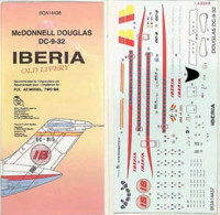 BOA Decals 14438 1/144 Decals DC-9-32 IBERIA Old Livery (FLY)
