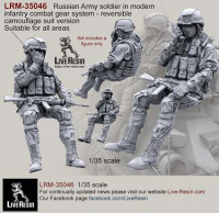 LiveResin LRM35046 Russian Army soldier in modern infantry combat gear system, set 8