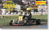Fujimi 091518 Ayrton Senna Kart 1981 (Pre-colored Kit) 1:20
