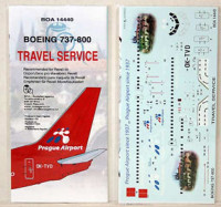 BOA Decals 14440 1/144 Decals Boeing 737-800 Travel Service (REV)