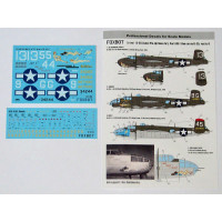 "Foxbot 72-042 North American B-25H/J Mitchell (Late) ""Pin-Up Nose Art and Stencils"" Part # 8 1/72"