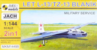 Mark 1 Model MKM-14495 1/144 LET L-13/TZ-13 Blan?k MILITARY (2-in-1)
