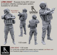 LiveResin LRM35047 Russian Army APC driver in modern infantry combat gear system set 9 1:35