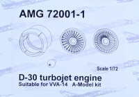 Amigo Models AMG 72001-1 1/72 D-30 turbojet engine for VVA-14 (AMOD)