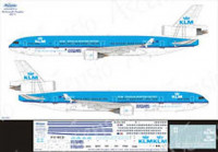 Ascensio 011-012 MD-11 KLM - Royal Dutch Airlines (Douglas Aviation History) 1/144