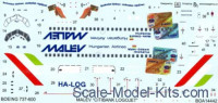 BOA Decals 14442 1/144 Decals Boeing 737-600 Mal?©v Citibank (SKYL)